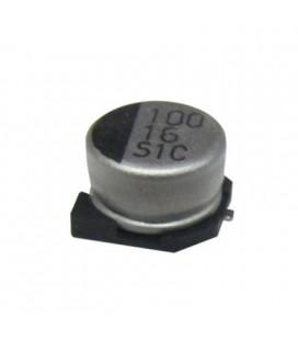 Condensador electrolitico Smd 100mf-16v 85? 6,3mm