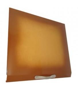 Tapa abatible vitrocerámica color marrón