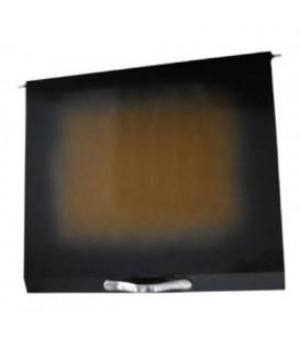 Tapa abatible vitrocerámica color negro/marrón