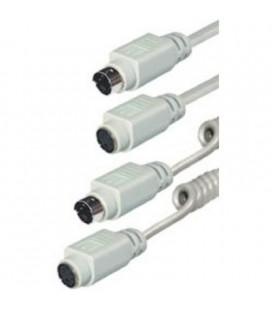 Cable conexión 4 pin Hosiden plug to 4 pin Hosidenjack, helical cable, 2,0 m