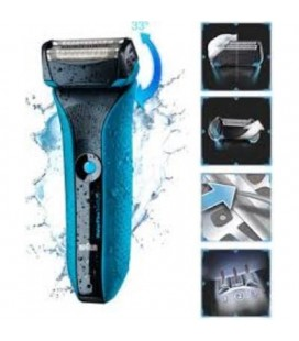 Afeitadora Braun Waterflex color azul