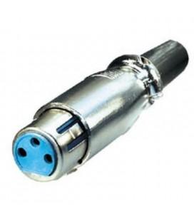 Conector conexión tipo cannon hembra