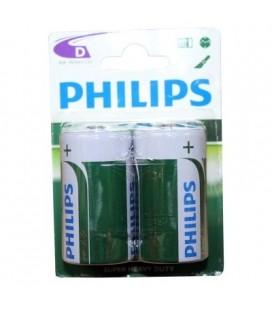 Pila salina Philips formato R20, 2 unidades
