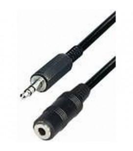 Cable conexión jack macho a jack hembra 3 metros