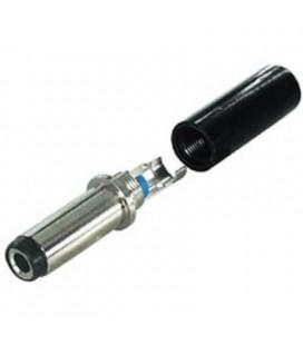 Conector macho para alimentación 6,3mm x 3mm