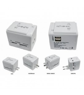 Adaptador enchufe para USA, UK, EU y Australia, 100 -240V