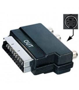 Adaptador euroconector macho a 3 RCA hembra + hembra 4 pin