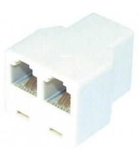 Dispositivo Adaptador Telefono 6-6h 2x6/6 H Blanco