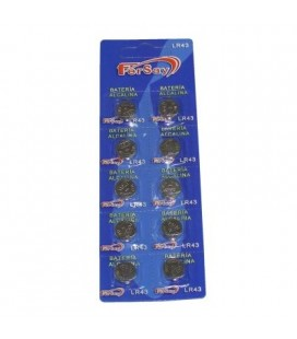 Pila litio botón formato LR43 Fersay, 10 unidades