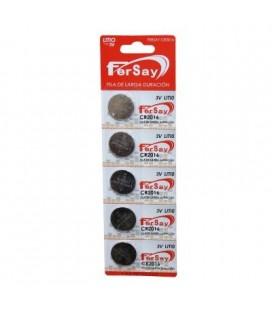 Pila de botón de litio CR2016 Fersay, 5 unidades