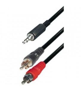 Cable de 2 rca macho a jack 3,5 stereo
