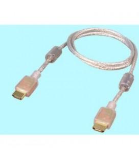Cable tipo Hdmi macho 19 pin a Hdmi macho 19 pin transparente alta calidad