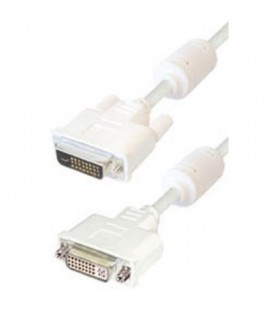 Cable de DVI macho 24+1 pin a DVI hembra 24+1 pin, 2 metros