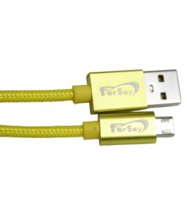 Cable tipo Usb mini Usb Fersay amarillo