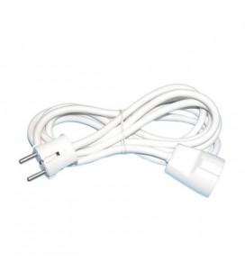 Cable Prolongador Schuko Blanco, 3 Metros