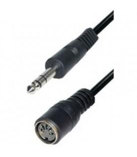 Cable Jack Macho A Din Hembra 5 Pin 180º