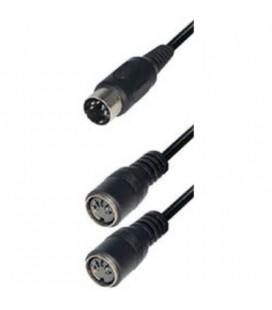 Conector Din Macho 5p A 2 Din Hembra 5 Pin