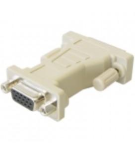 Conexión adaptador DVI 24+1 a SUB-D jack 15 pines HD