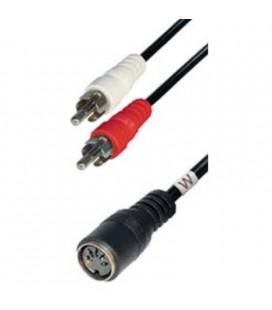 Cable ConexióN Din Hembra 5 Pin A 2 Rca Macho