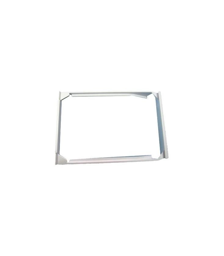 Anillo ajustable plateado plata ajuste de cabujón de espacios en blanco18x25mm10 un.