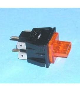 Interruptor bipolar Balay 152122, 6 contactos, interruptor del superfrost (naranja)