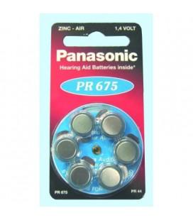 Pila botón 1,4V formato V675 PR675H Panasonic