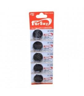 Pila botón de litio formato CR2430 Fersay, 5 unidades