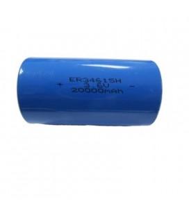 Pila de 3,6V formato ER34615M axial, sin cable