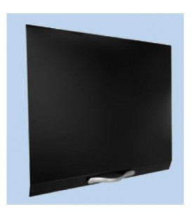 Tapa abatible vitrocerámica color negro