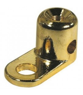Abrazadera M8 para fijacion dorada
