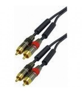 Cable audio 2 rca m - 2 rca m 1,5m