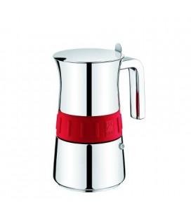 Cafetera Bra Elegance Color Rojo,4 Tazas