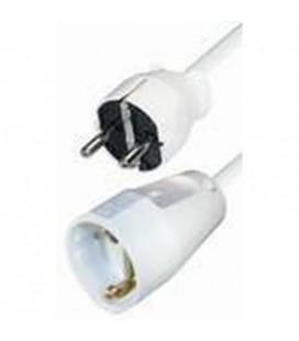 Cable prolongador schuko 5m blanco