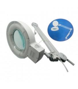 Lampara lupa 5 dioptrias (x2,25). Luz fria. Diametro lente 122mm. Sin distorsiones. Extensión total 100cm. Alimentación 230V