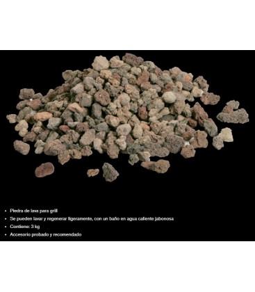 Piedra de lava para Grill de lava - 3Kg