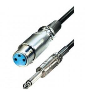Cable conexión de Cannon hembra a Jack macho 6,3 mm