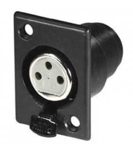 Conector cannon negro hembra chasis