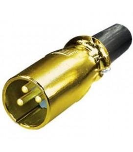 Conector cannon dorado macho
