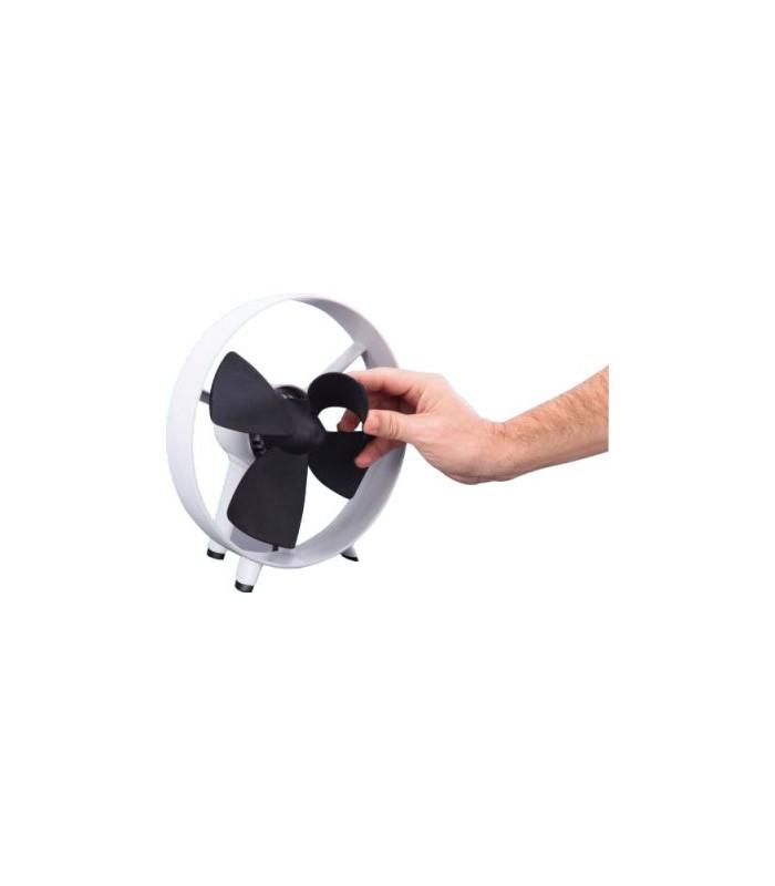 Ventilador Silencioso Diseño Palas en Goma Flexibles