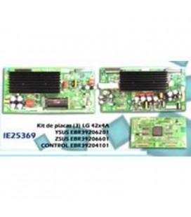 Kit de placas (3) LG 42X4A, ysus EBR39206201, zsus EBR39206601, control EBR39204101 (3 PLACAS)
