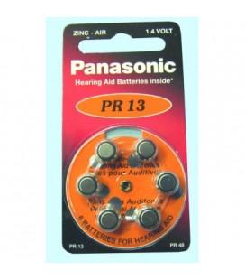 Pila tipo botón formato V13 PR13H Panasonic 1,4V