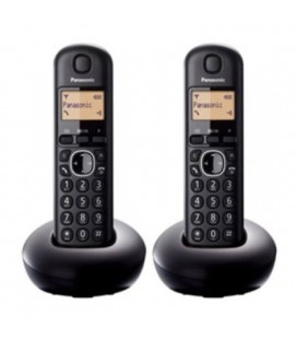 Teléfono inalámbrico Panasonic Duo Color Negro TGB212SPB