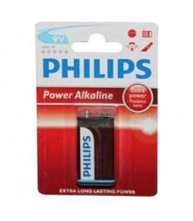 Pila alcalina Philips 9V