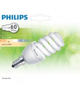 Bombilla Espiral Mini Bajo Consumo Philips 12w E14