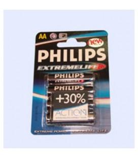 Pila extremelife Philips formato LR6, 4 unidades