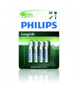 Pilas Salinas Longlife R03 De Philips