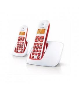 2 teléfonos inalámbricos Philips CD1902B-23 color rojo azul
