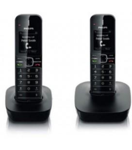 2 teléfonos inalámbricos Philips CD4802B/ES manos libres