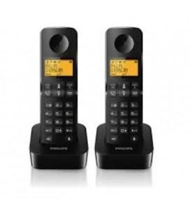 2 teléfonos inalámbricos Philips D2102B/23