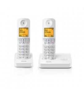 2 teléfonos inalámbricos Philips D4002W/23 manos libres